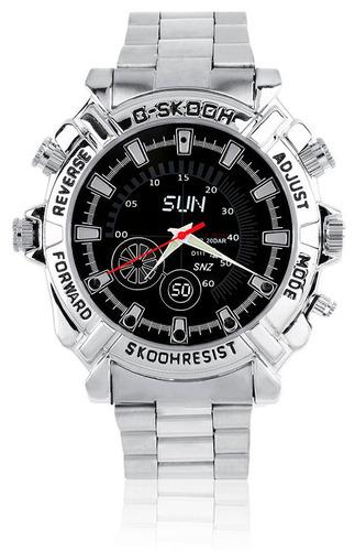 reloj espía cámara 12mp full hd 1080p visión nocturna 8gb