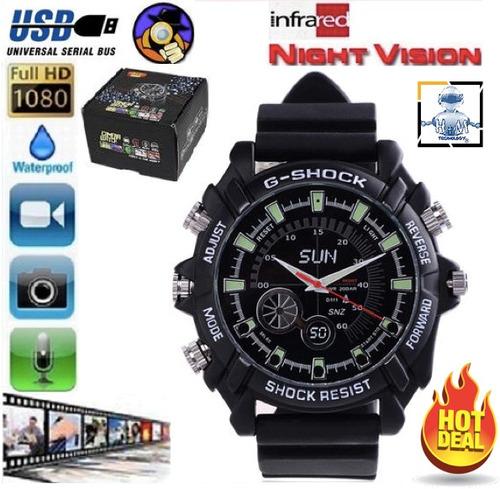 reloj espía hd 8gb vision nocturna tipo gshock incluye envio