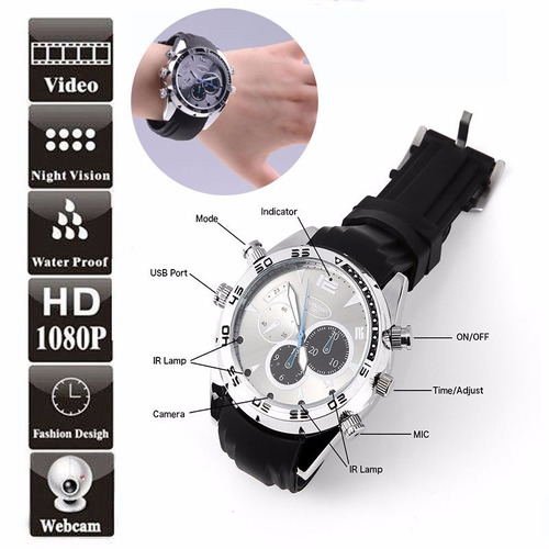 reloj espia pulsera filma graba video audio hd 16gb memoria