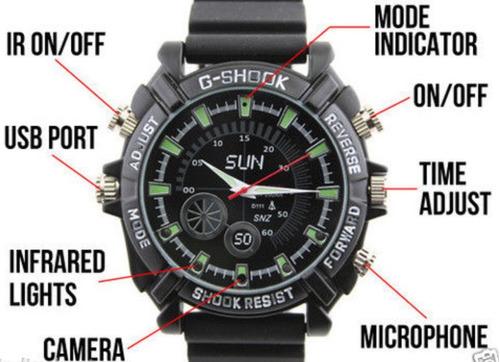 reloj espia pulsera filma video audio hd 16gb seguridad