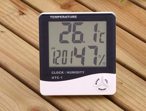 reloj estación meteorológica digital mide humedad termómetro