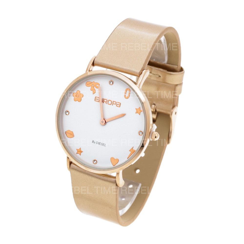 06339e8541c1 reloj europa by diesel mujer 4000 215 wr malla cuero glitter. Cargando zoom.