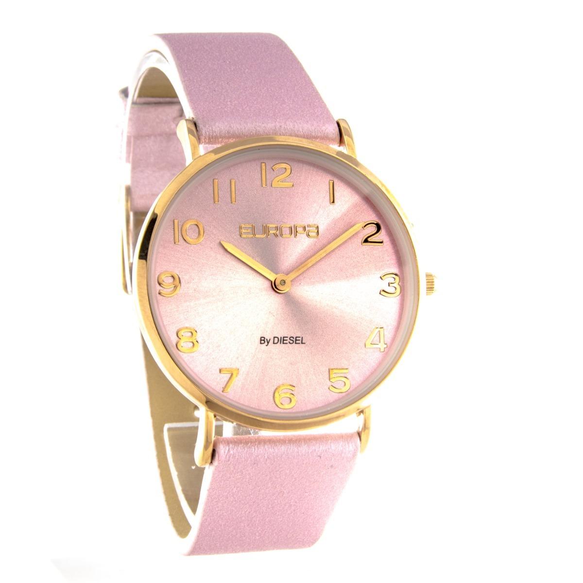 2f8b876c07c5 reloj europa by diesel mujer 4000 glitter cuero fashion dama. Cargando zoom.
