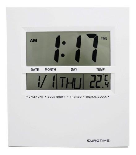 reloj eurotime pared escritorio fecha alarma temperatura