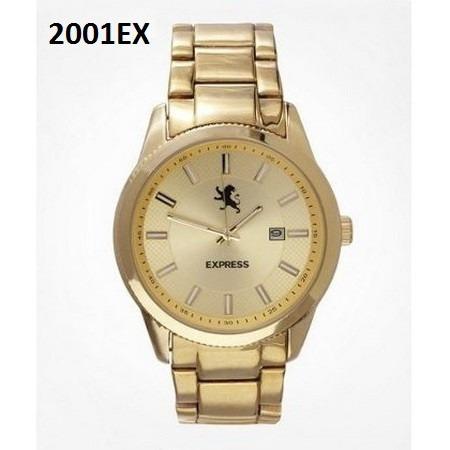 reloj express dorado, relojes y ropa de hombre 100% original