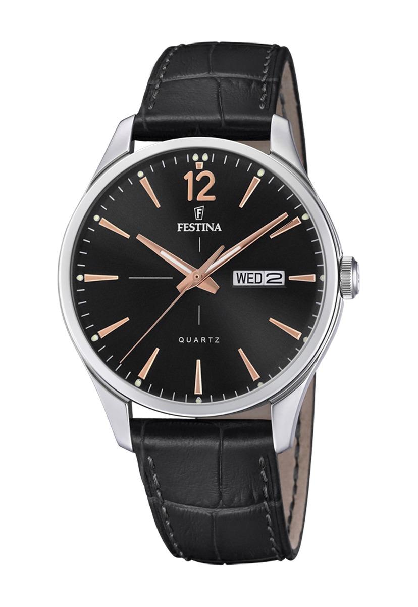 Festina Hombre Negro F202054 Retro Reloj nPOk08w