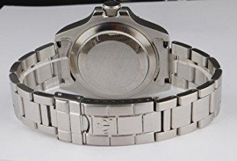 reloj fanmis lujo negro dial bisel rotativo luminoso de cua