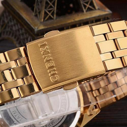 reloj fanmis luxury a inox oro redondo hombre 4331787063