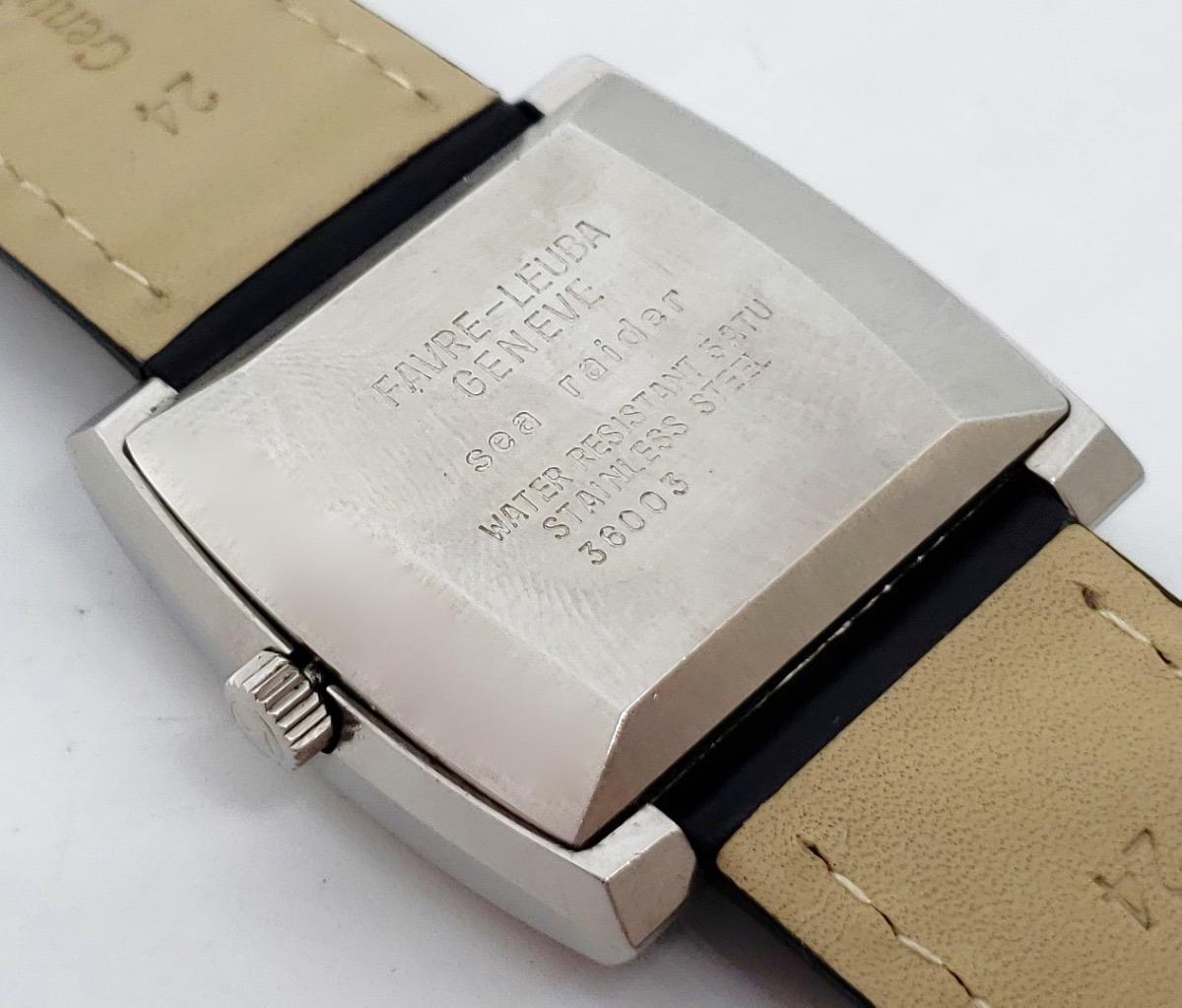 3ea912ff47bc Reloj Favre Leuba Sea Raider 36000 Automatico Vintage -   7
