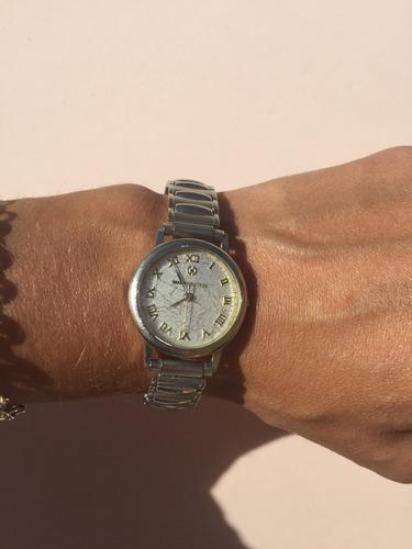 reloj femenino plateado nasa mujer