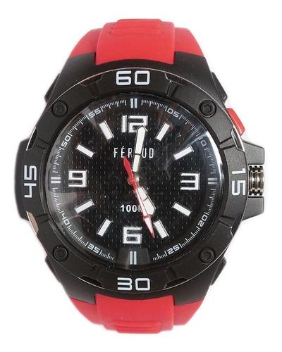 reloj feraud f100m1-02 hombre sumergible 100m silicona