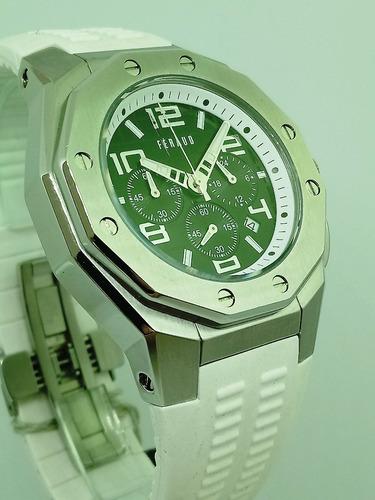 reloj feraud hombre cronometro malla silicona original