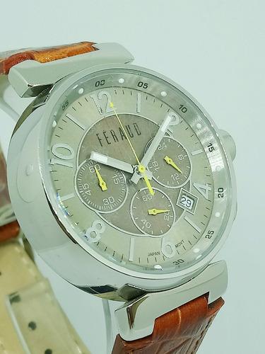reloj feraud hombre vintage malla cuero original