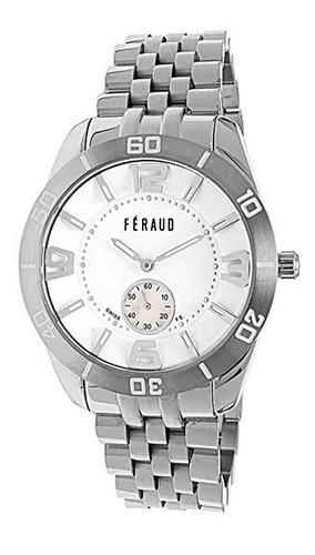 reloj feraud lf0174gb hombre acero inoxidable máquina suiza