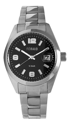 reloj feraud lf20056gn hombre acero inoxidable fechador