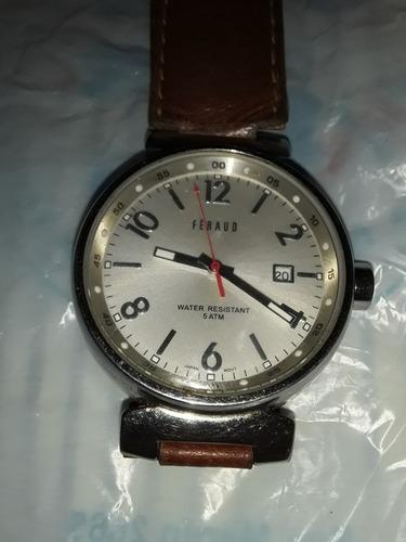 reloj feraud quartz hombre acero