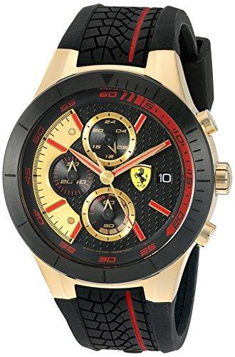 c4a7f285e6ee Reloj Ferrari Para Hombre 0830298 Color Negro oro Correa De ...