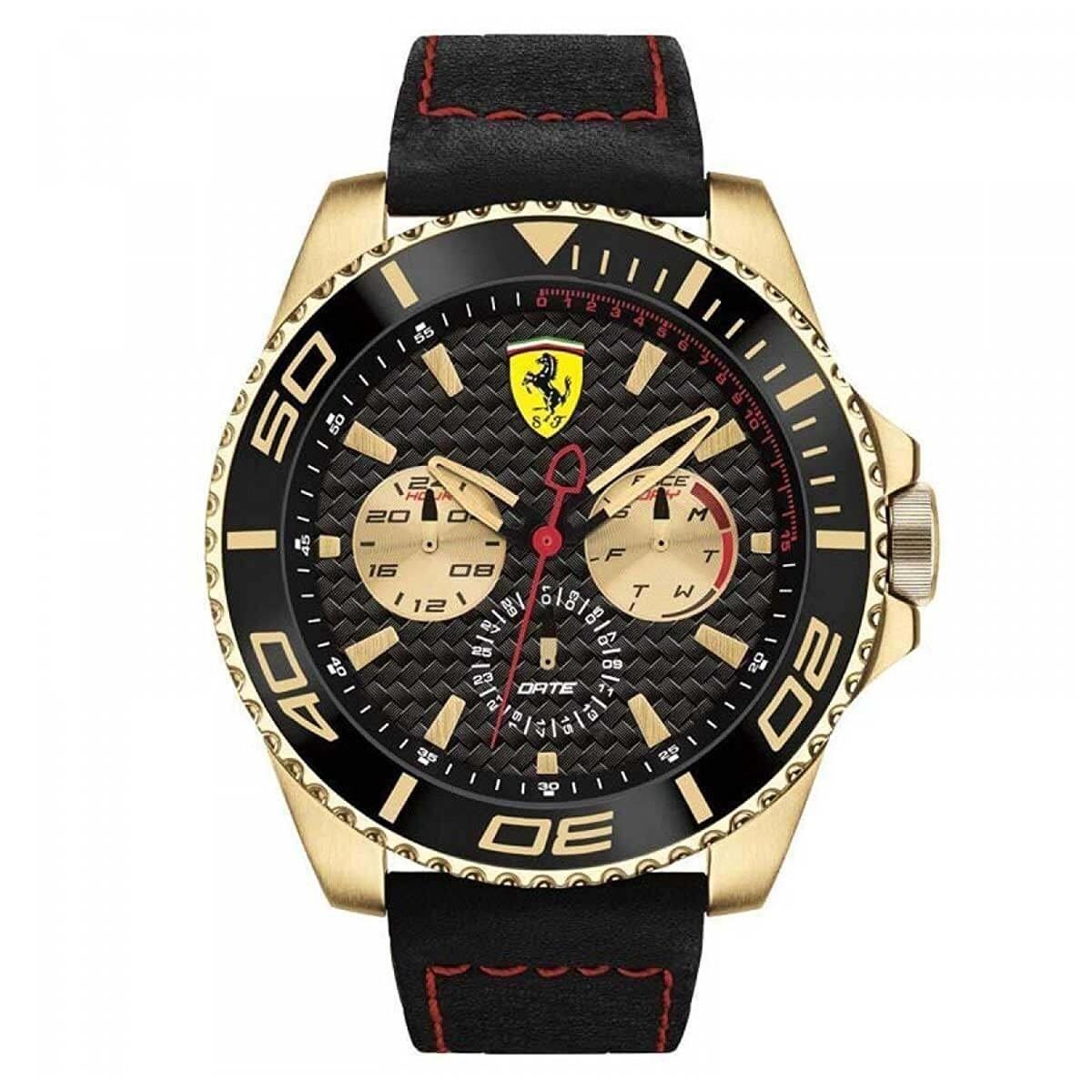 5b3c469244c1 Reloj Ferrari Para Hombre 0830385 Color Negro dorado Caja ...