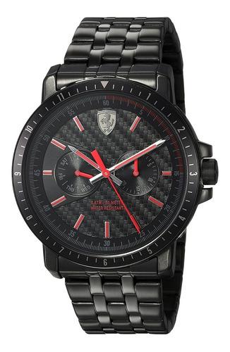 reloj ferrari para hombre 830454 color negro pulsera
