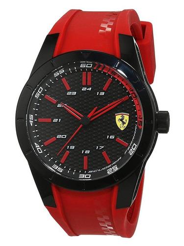 reloj ferrari para hombre redrev 0830299, tablero color