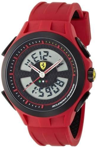 reloj ferrari  rojo