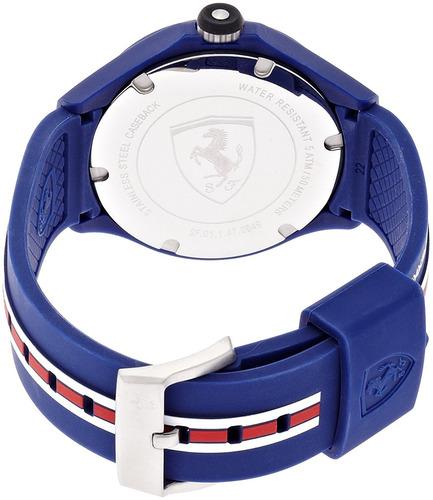 reloj ferrari scuderia  azul masculino