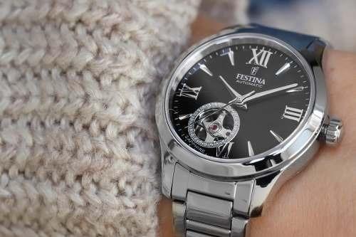 reloj festina automático f20488/2 mujer agente oficial