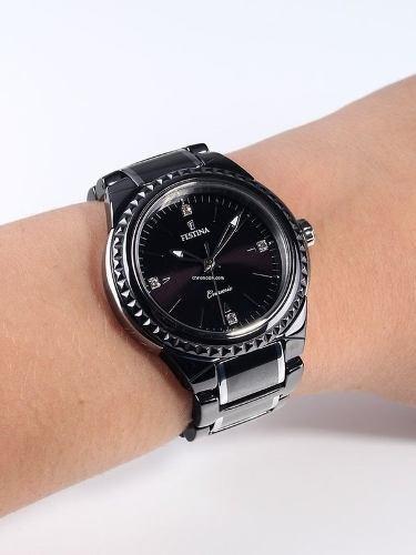 reloj festina ceramic f166984 mujer | envío gratis