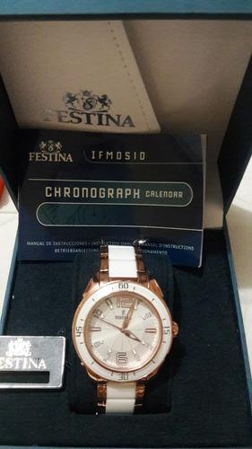 reloj festina ceramic. original.