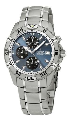 reloj festina chronograph f16169/4 hombre agente oficial