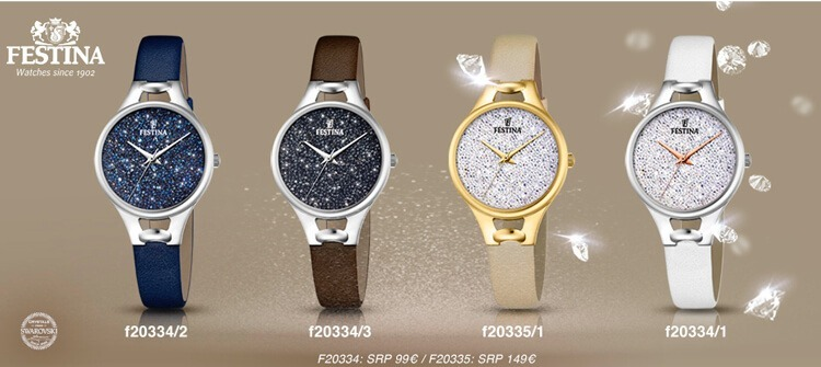 b9bfbcb3193d Reloj Festina Cristales Swarovski F20334.3 Mujer -   5.250