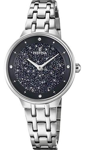 reloj festina de dama con cristales swarovski f20382