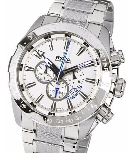 reloj festina dual time chronograph f16488/1 hombre original
