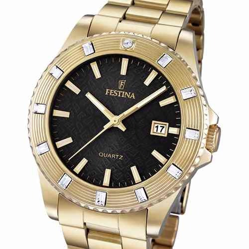 reloj festina f16686 50m wr strass 100% acero cristal duro