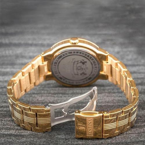 reloj festina f16713 2 acero inoxidable gold 50m wr