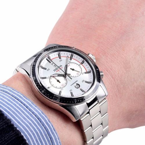 reloj festina f16818 cronografo sport 100% acero 100m wr