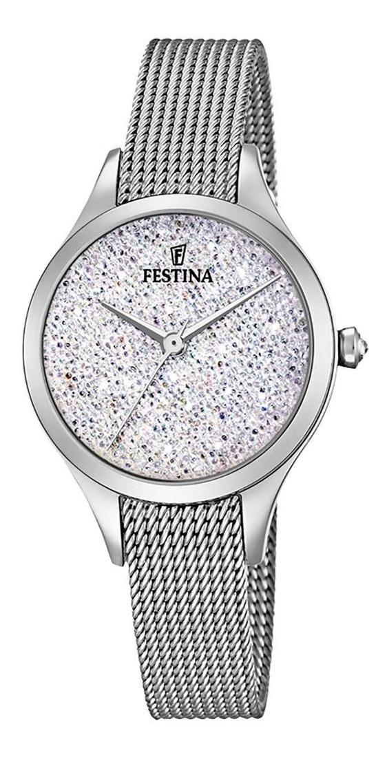 Festina Swarovski Reloj F20336 Y Cristales Con Regalo De vmwnN8O0
