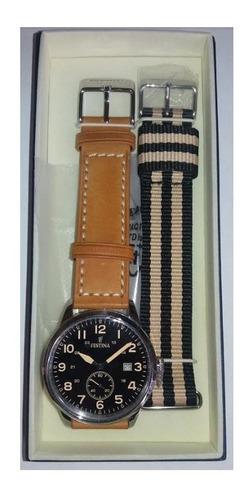reloj festina f20347 doble malla estuche especial fechador