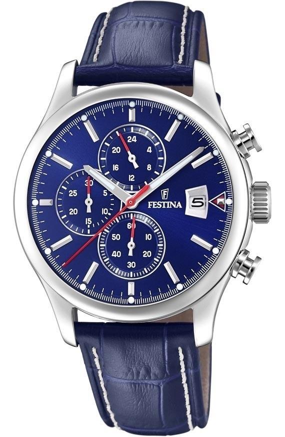 0a4a98376454 reloj festina hombre acero cuero tienda oficial f20375.4. Cargando zoom.