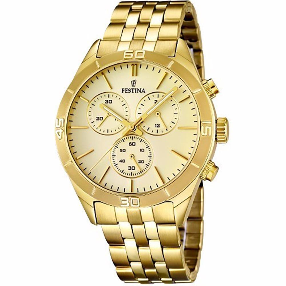 d98f93ec4622 reloj festina hombre f16764.2 cronografo malla acero dorado. Cargando zoom.
