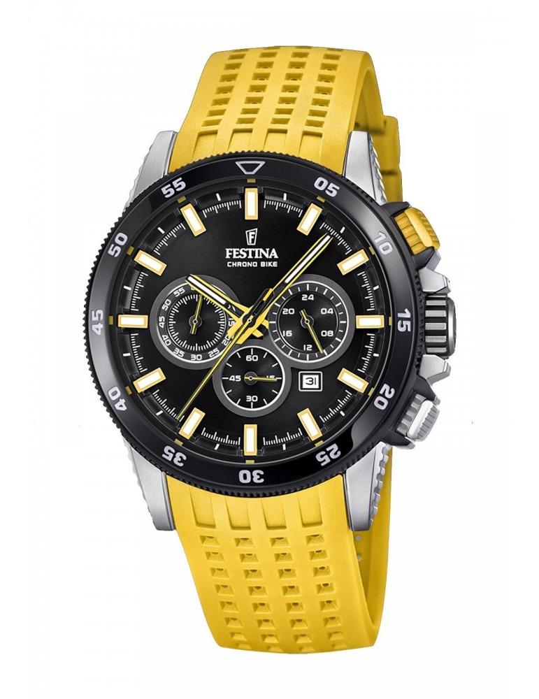 fef34316c190 reloj festina hombre f20353 5 chrono bike amarillo. Cargando zoom.