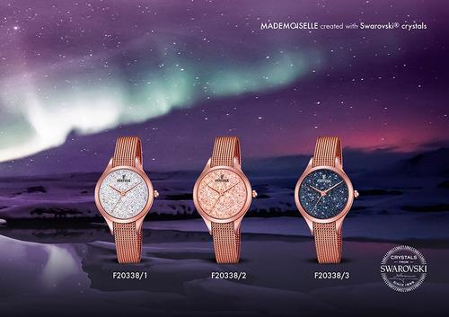 reloj festina mademoiselle swarovski f20338/3 agente oficial