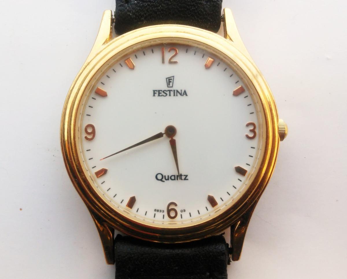 545bd6074bd0 reloj festina oro 5 micron y malla cuero hombre 8833 estuche. Cargando zoom.