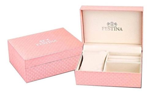 reloj festina rosé de dama con cristales swarovski f20333