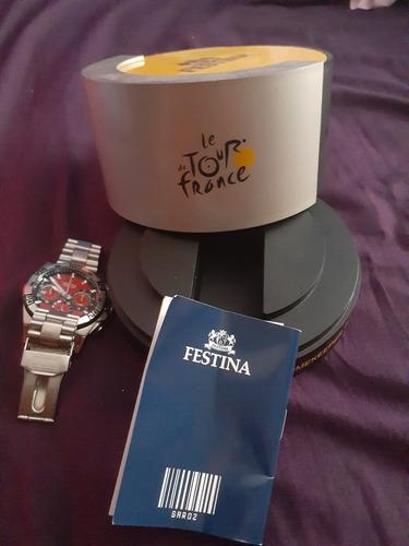 reloj festina tour de france crono edición limitada en perfe