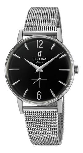 reloj festina unisex clásico con malla tejida f20252.4