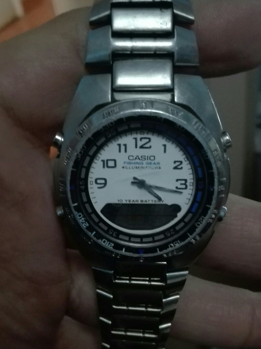 70035 000 Reloj Gear De Amw Casio Pesca Fishing vNwm80n