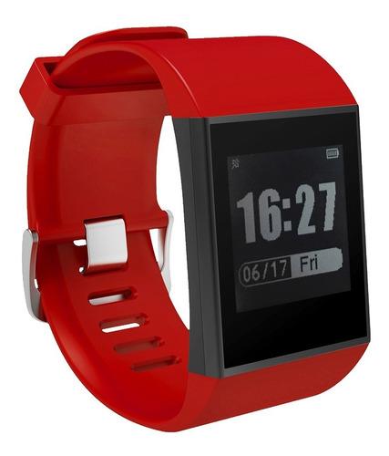 reloj fitness smartwatch dw07 rojo bluetooth maxyou