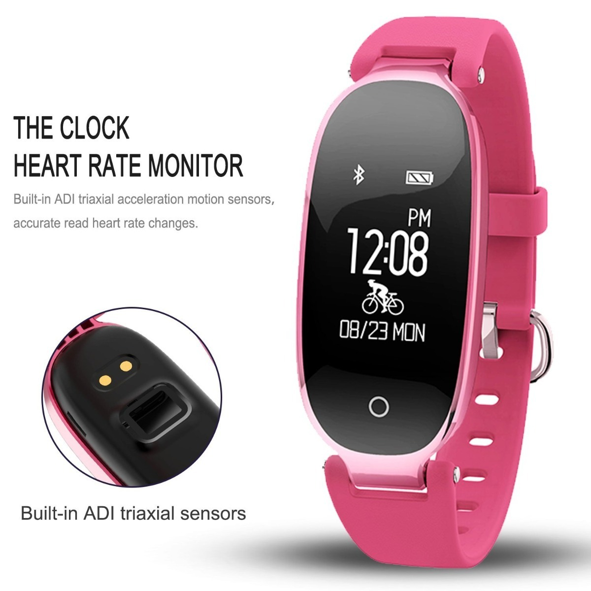 e2d14de2a2a5 Reloj Fitness Tracker Pulsera Inteligente Monitor R.c -   279.900 en ...