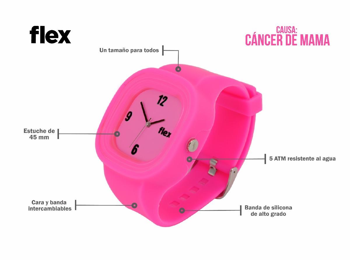 07dba5f76096 Reloj Flex Watches Cáncer De Mama Clásico Silicona -   999.00 en ...